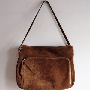 MEXX Vintage suede handbag